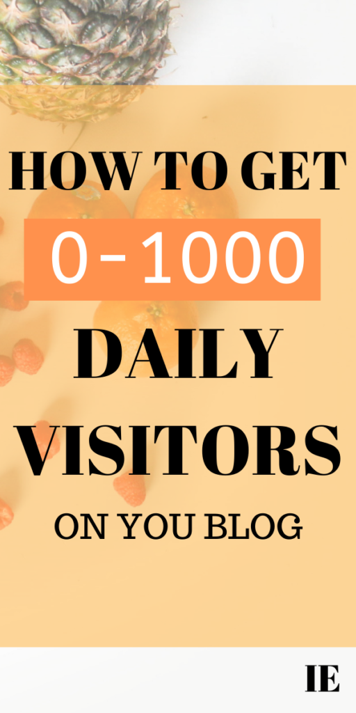 daily visitor on your blog